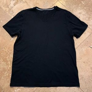 Banana Republic/Gap Men's Black V-Neck T-Shirt